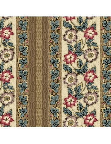 Windermere - Di Ford Hall - 8916L Floral Stripe Teal