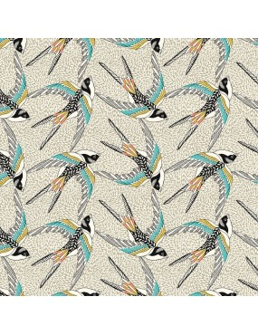 Tissu coton Hirondelles