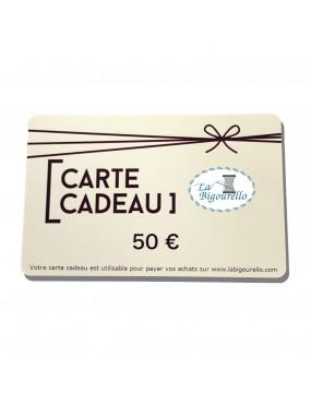Carte cadeau - 50 €