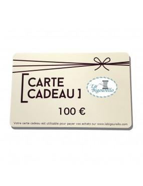 Carte cadeau - 100 €