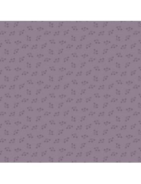 Tissu coton Bijoux Violet Lilas à motifs de Bouquets