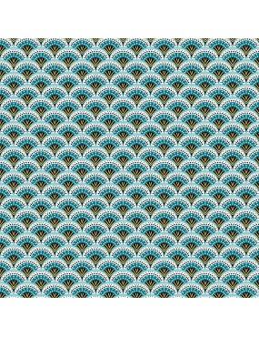 Tissu coton Wazabi