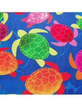 Tissu coton Tropical Breeze Tortues