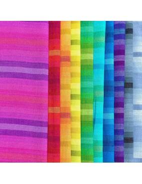 Lot de tissus rayures Kaléidoscope d'Alison Glass