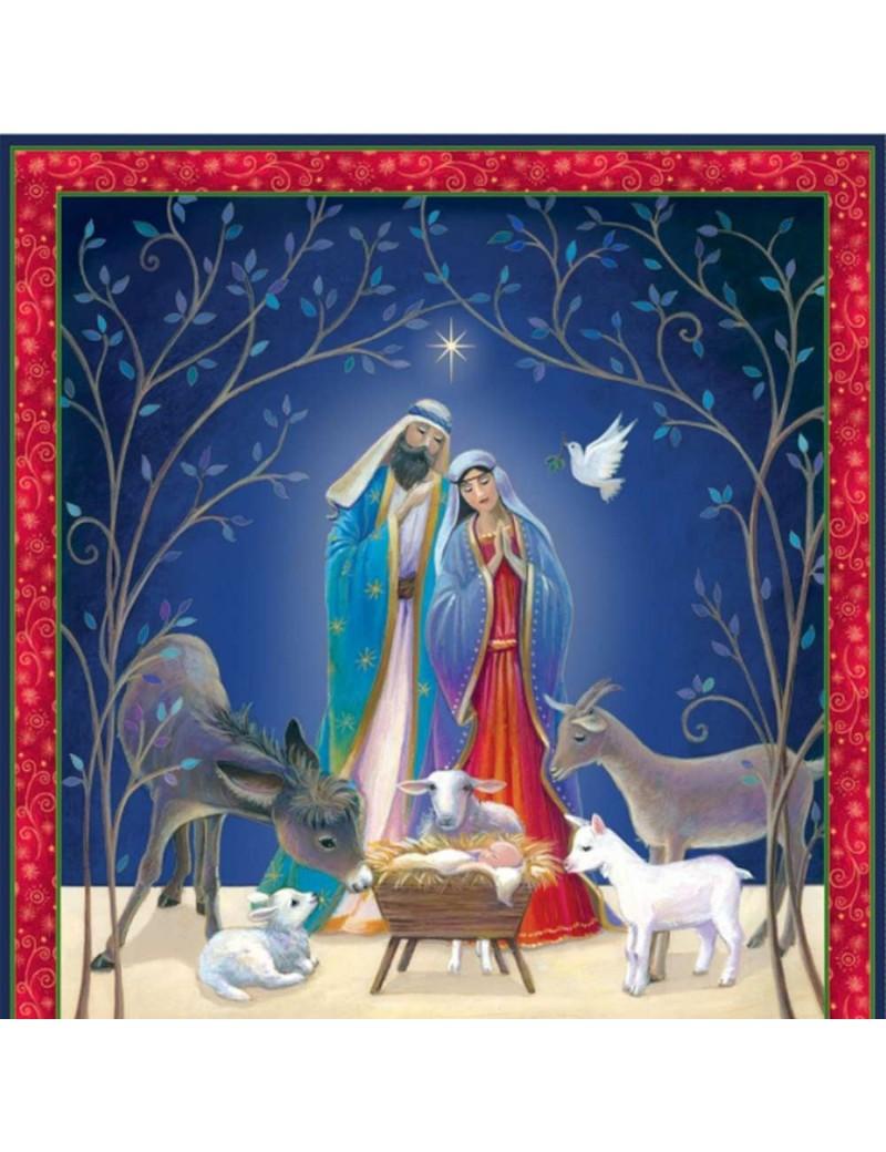 Panneau Noël Christ is born Crèche