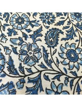Tissu coton Sri Lanka Bleu
