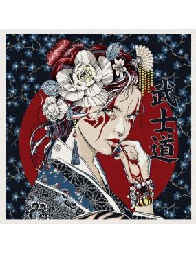 Carré Jacquard Geisha