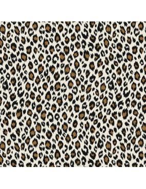 Tissu coton Fauve Ivoire