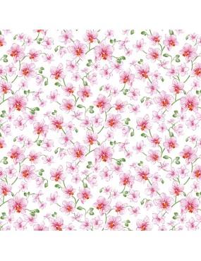 Tissu coton Bouquet Dragée