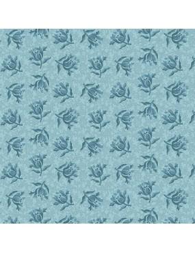 Fat Quarter Something Blue Bleu à motifs de Pivoine Bleu
