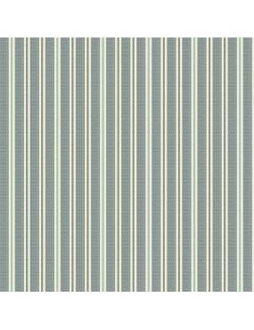 Tissu coton Something Blue Bleu à motifs de Rayure Blanc et Beige