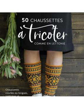Livre 50 chaussettes à tricoter comme en Lettonie