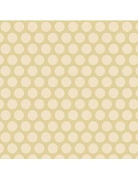 Tissu coton Something Blue Beige à motifs de Gros Pois