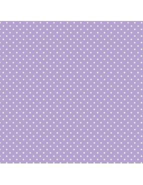 Tissu coton Spot 24 Shades Violet Lilas d'Eau à motifs de Pois Blanc