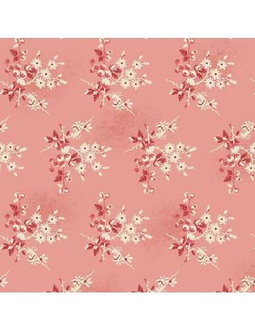 Fat Quarter Little Sweetheart Rose à motifs de Baie et Primerose Rouges et Blanches
