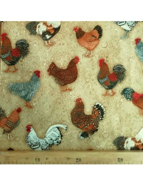 Tissu coton Prized Poultry...