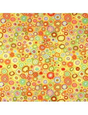 Fat Quarter Kaffe Fassett à motifs de Ronds Multicolores