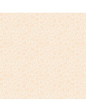 Tissu Coton Faux Unis Essential Tons sur Tons à motifs de Cœurs
