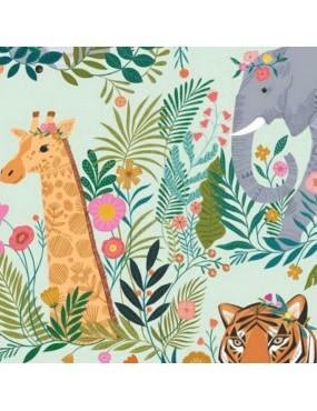 Tissu coton Our Planet à motifs d'Animaux Safari