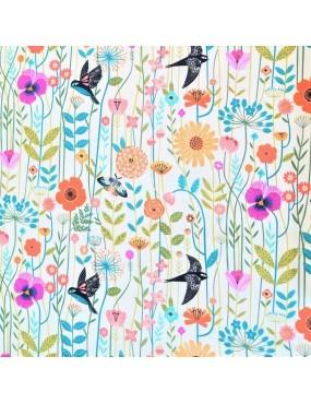 Tissu coton Aviary à motifs...