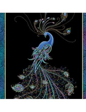 Panneau dorure Peacock Flourish à motifs de Paon