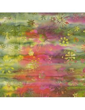 Fat Quarter Batik imprimé Fleurs Stylisées