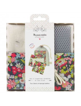 Kit couture lingettes lavables Liberty