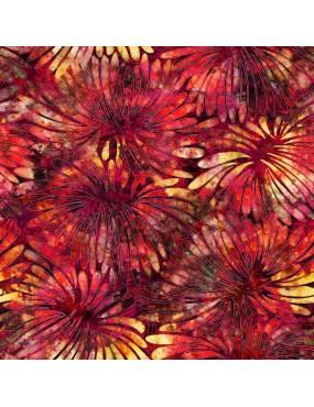 Tissu Coton Tropicalie à motifs de Feuilles exotiques