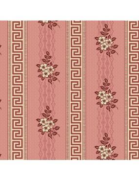 Fat Quarter Annes English Scrapbox à motifs de Bandes de Bouquets et de Formes Géométriques