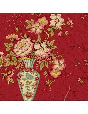 Fat Quarter Annes English Scrapbox à motifs de Bouquets de Fleurs