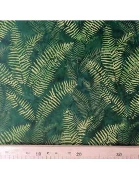 Fat Quarter Batik imprimé feuilles de fougères