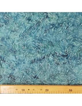 Fat Quarter Batik imprimé bleu à motifs de vagues
