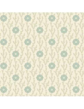 Tissu coton Seamstress à motifs de lin et dentelle