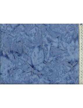 Tissu Batik Bleu Gris