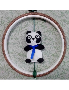 Kit Feutrine de laine Panda
