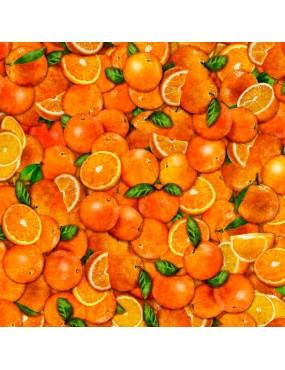 Tissu coton Fresh à motifs d'oranges