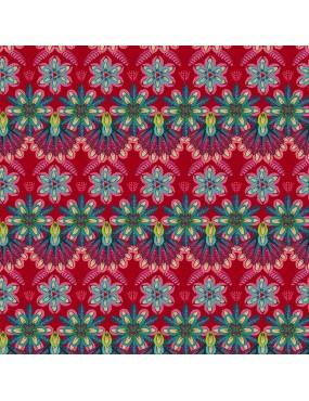 Tissu coton MagiCountry par Odile Bailloeul à motifs de plumes