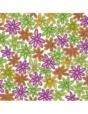 Tissu fleurs Hoot Hoot A-9762-E